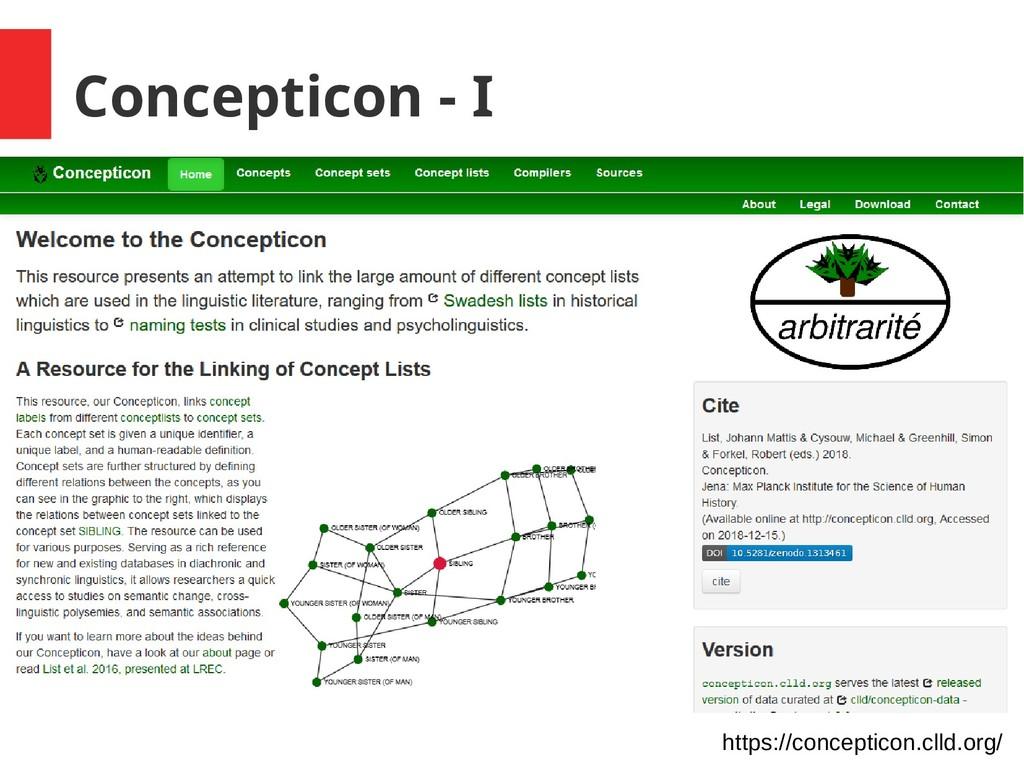 Concepticon - I https://concepticon.clld.org/