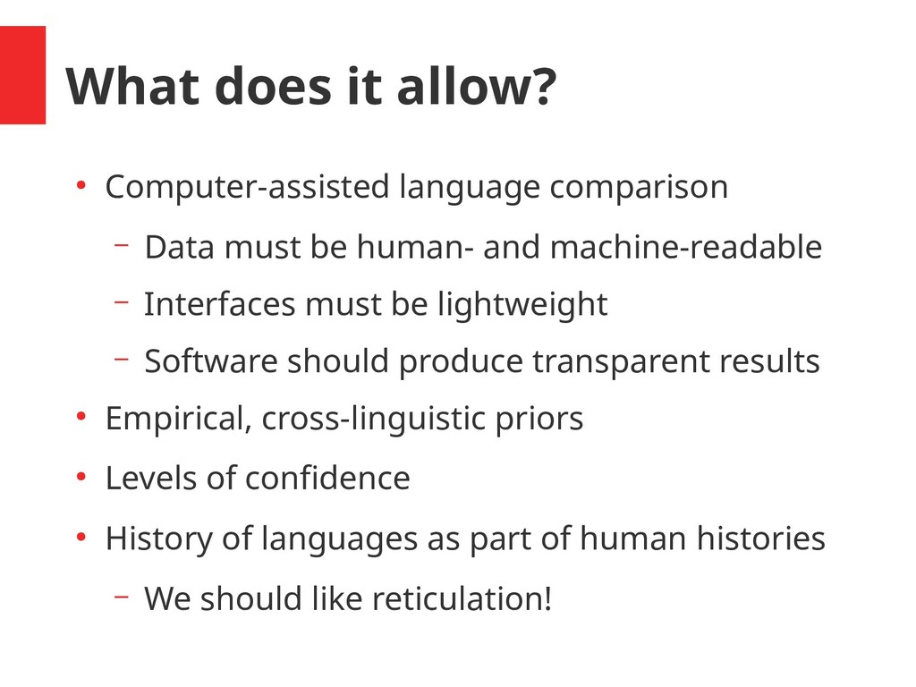 What does it allow? ● Computer-assisted languag...