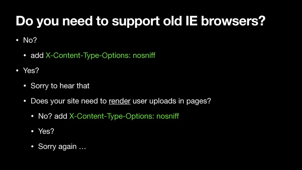 Do you need to support old IE browsers? • No?  ...