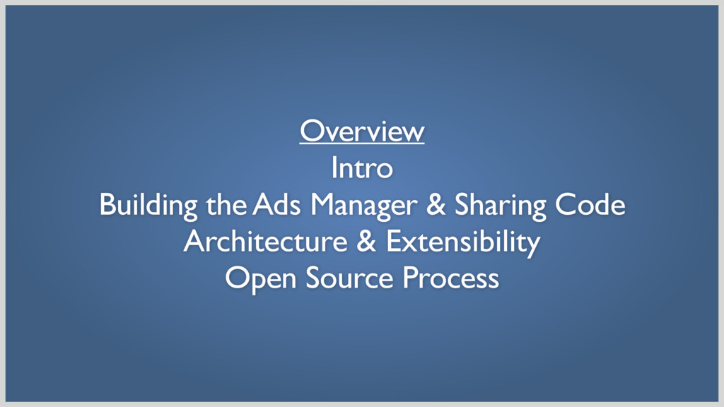 Overview Intro