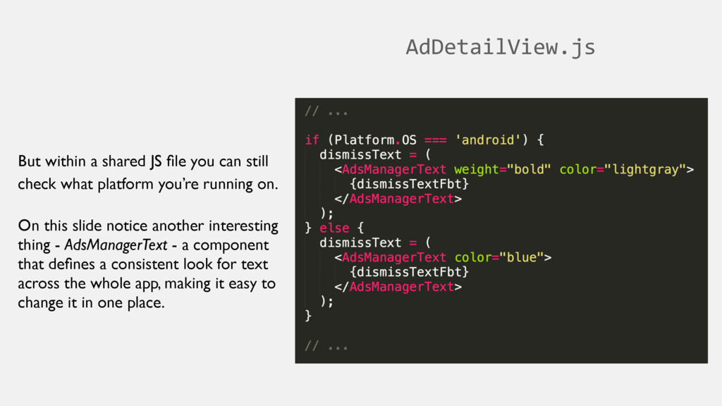 AdDetailView.js But within a shared JS file you ...