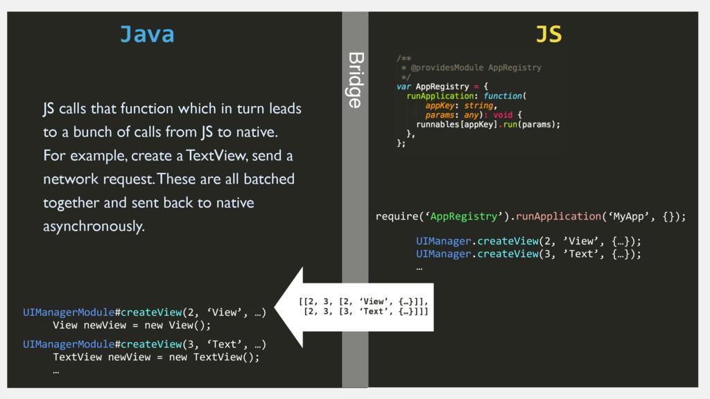 Java JS Bridge require('AppRegistry').runApplic...