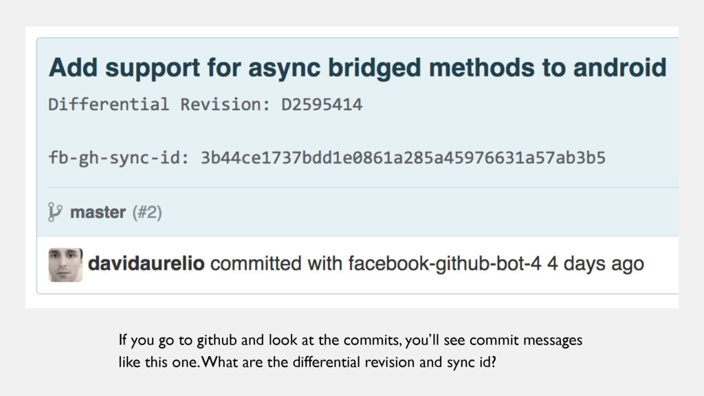 If you go to github and look at the commits, yo...