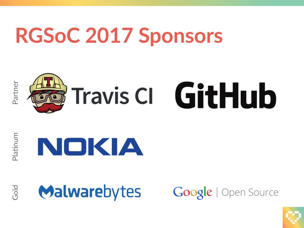 RGSoC 2017 Sponsors Partner PlaCnum Gold
