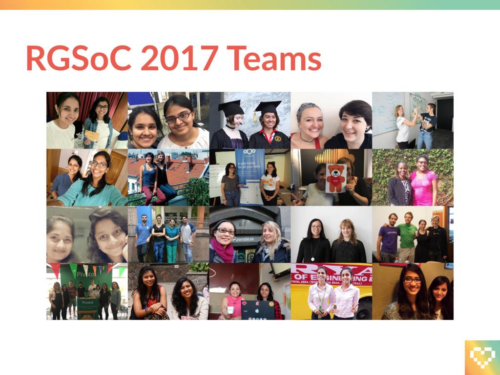 RGSoC 2017 Teams