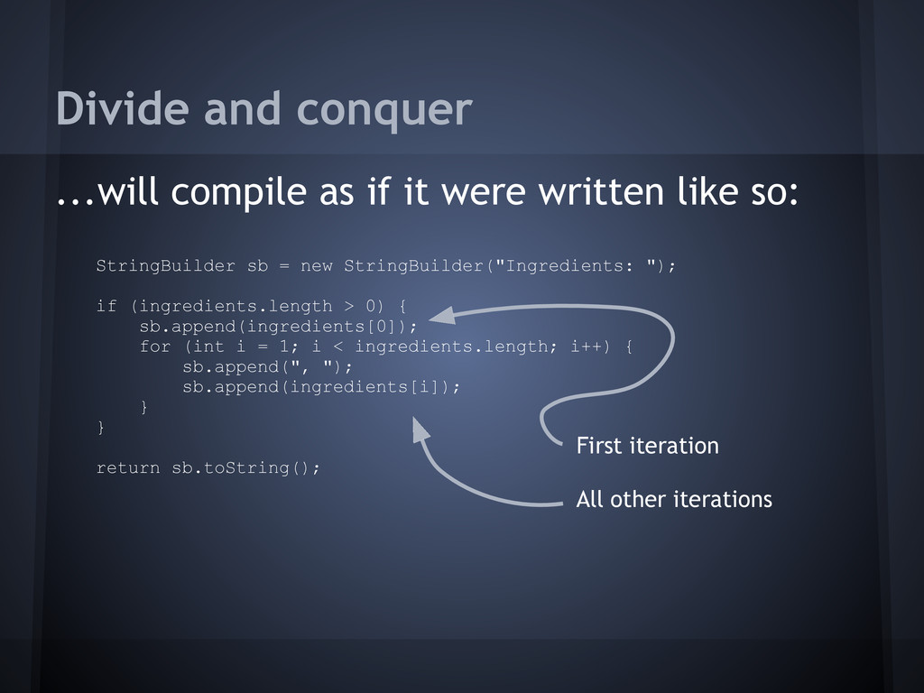 Divide and conquer ...will compile as if it wer...