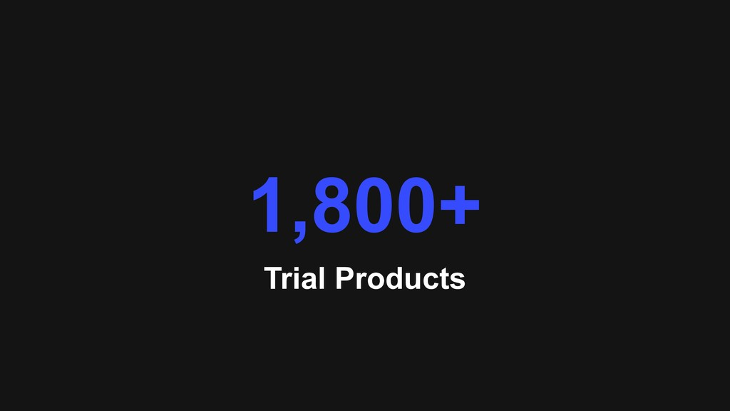Trial Products 1,800+