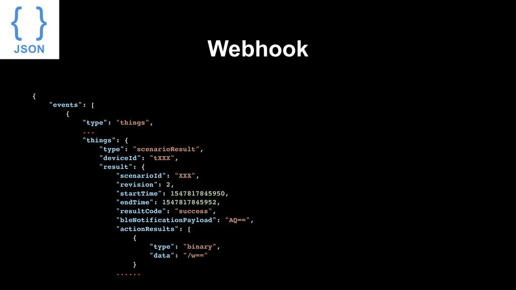 "Webhook { ""events"": [ { ""type"": ""things"", ... ""..."