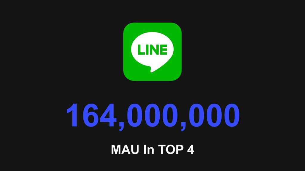 MAU In TOP 4 164,000,000