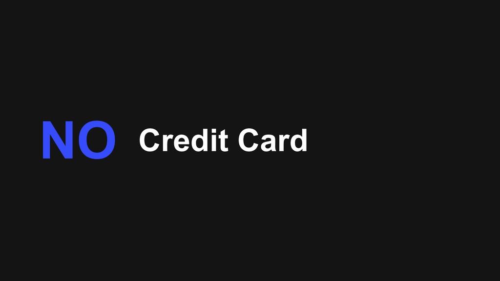 Credit Card NO