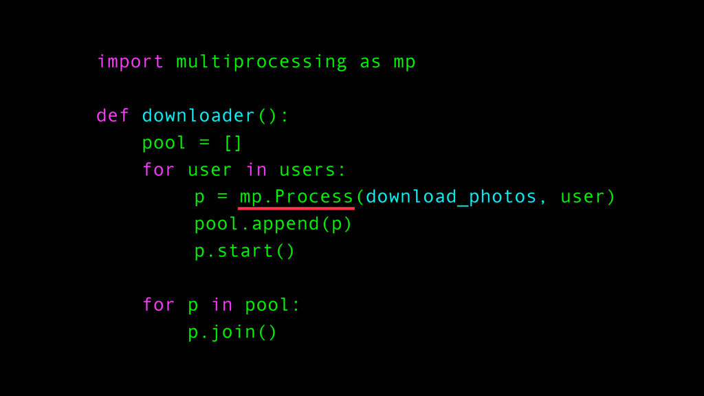 import multiprocessing as mp def downloader(): ...
