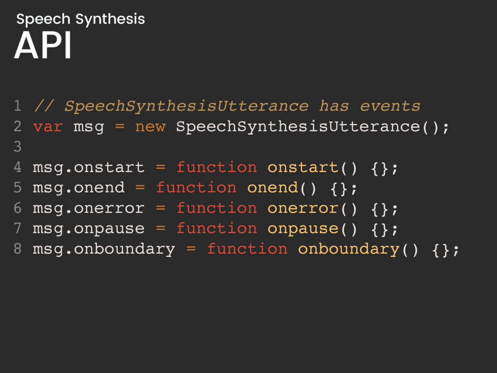 API Speech Synthesis 1 // SpeechSynthesisUttera...