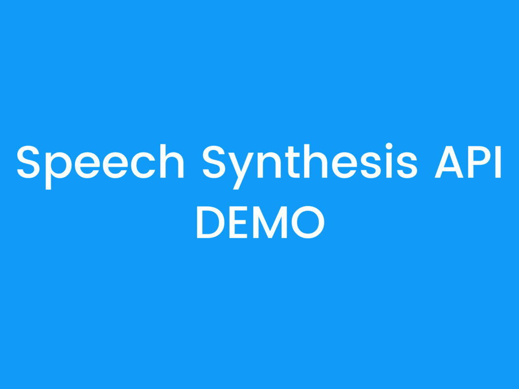 Speech Synthesis API DEMO