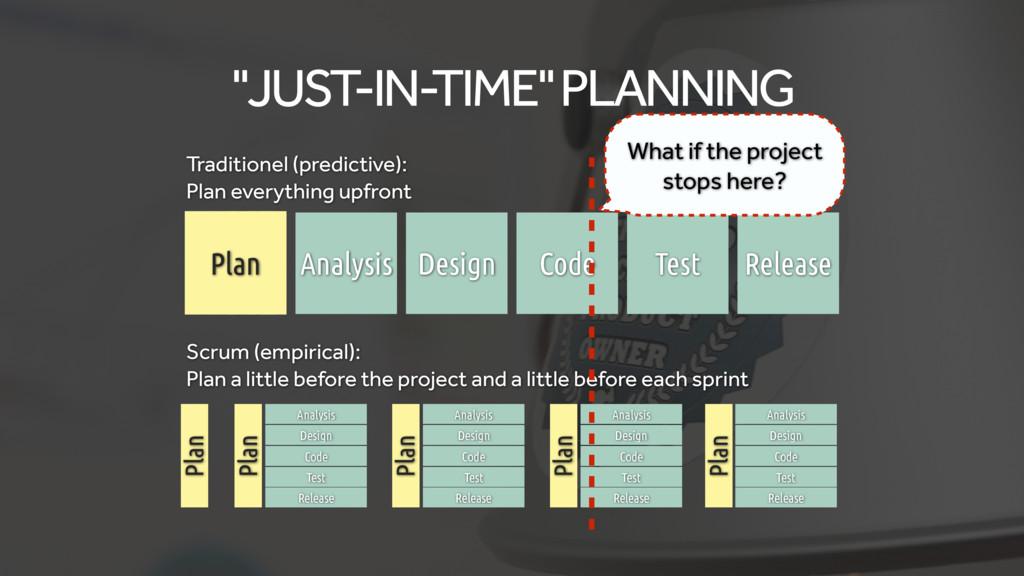 "Plan Plan Plan Plan Plan ""JUST-IN-TIME"" PLANNIN..."