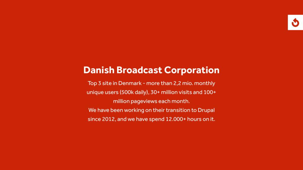 Danish Broadcast Corporation Top 3 site in Denm...