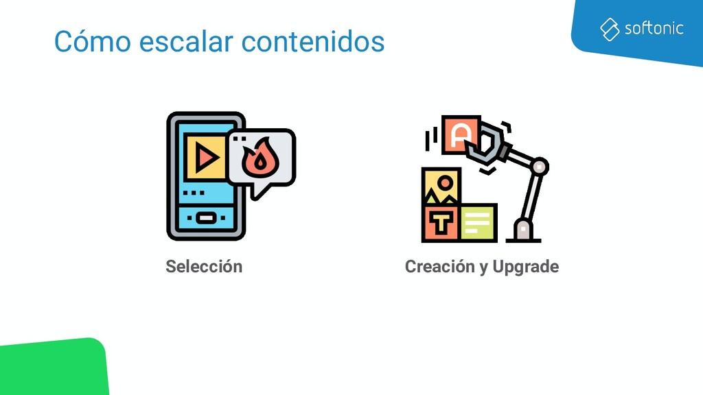 Cómo escalar contenidos Selección Creación y Up...