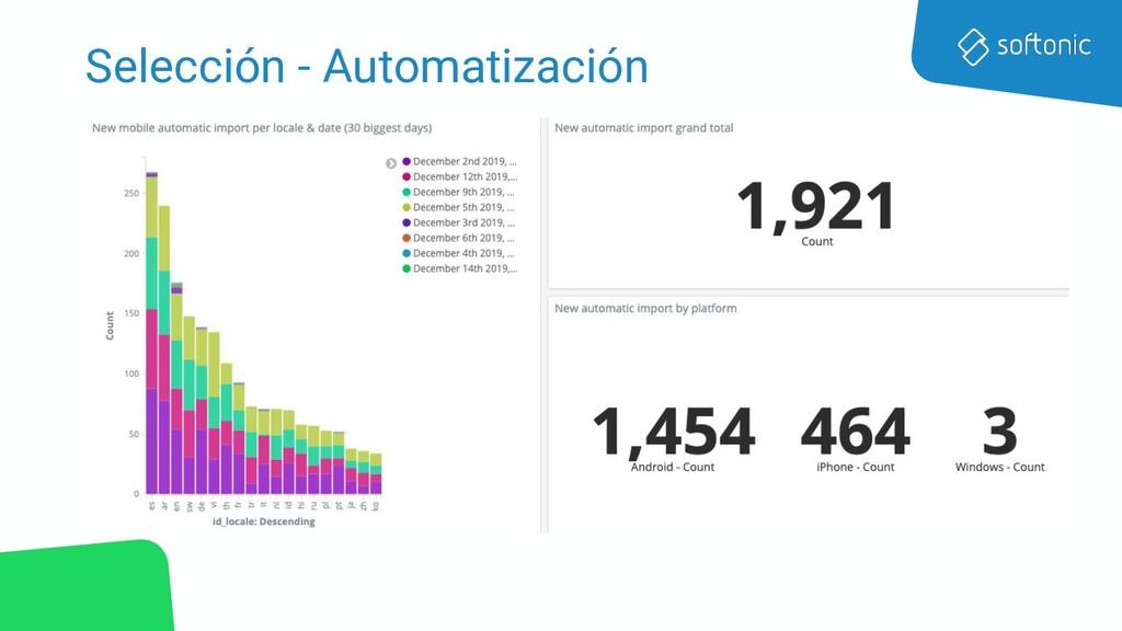 Selección - Automatización