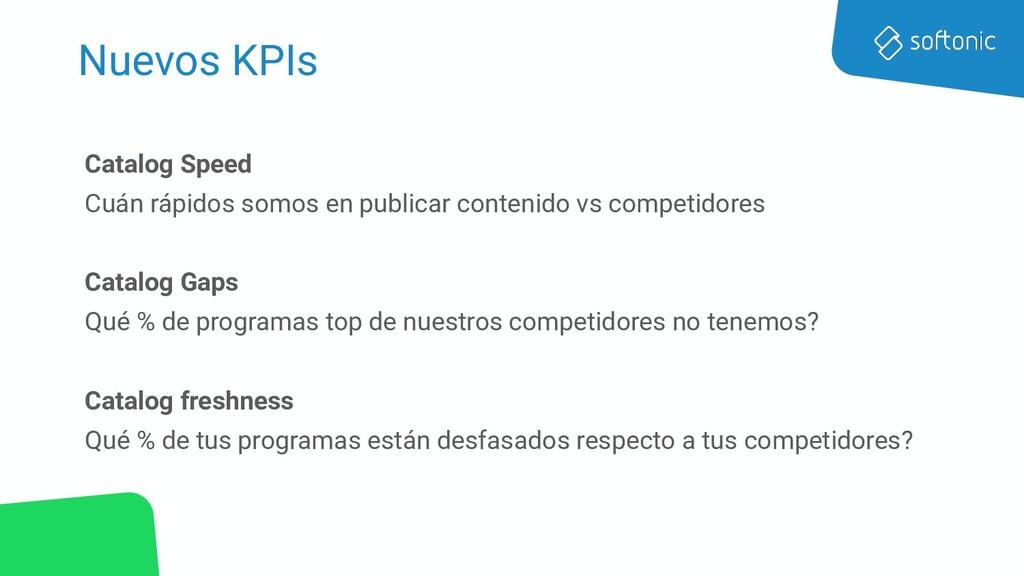 Nuevos KPIs Catalog Speed Cuán rápidos somos en...