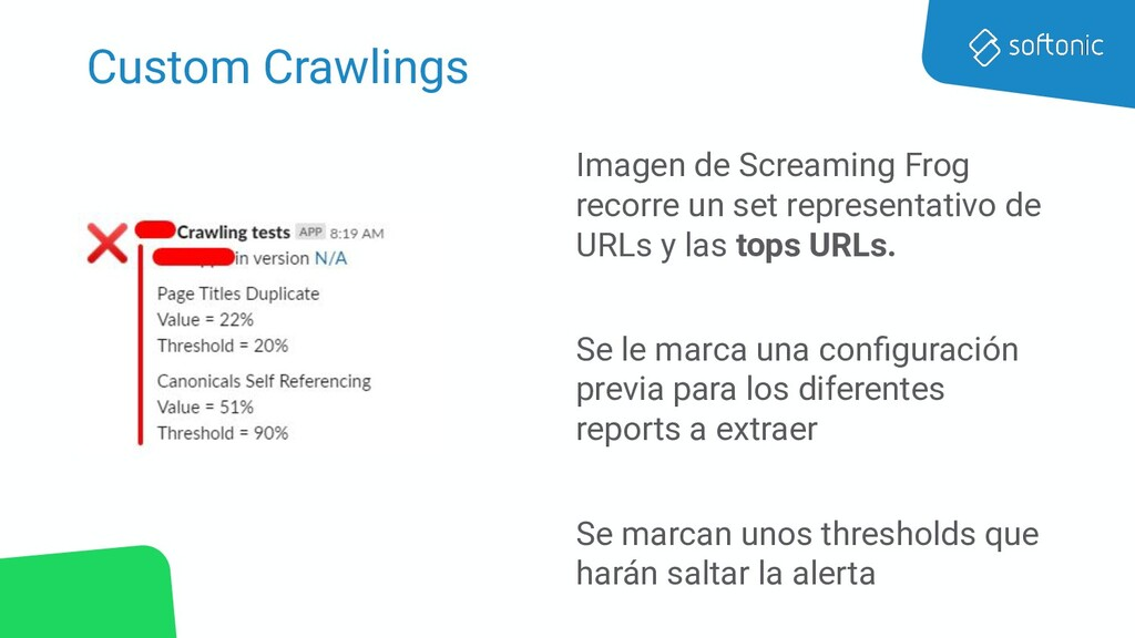 Custom Crawlings Imagen de Screaming Frog recor...