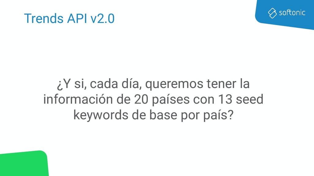 Trends API v2.0 ¿Y si, cada día, queremos tener...