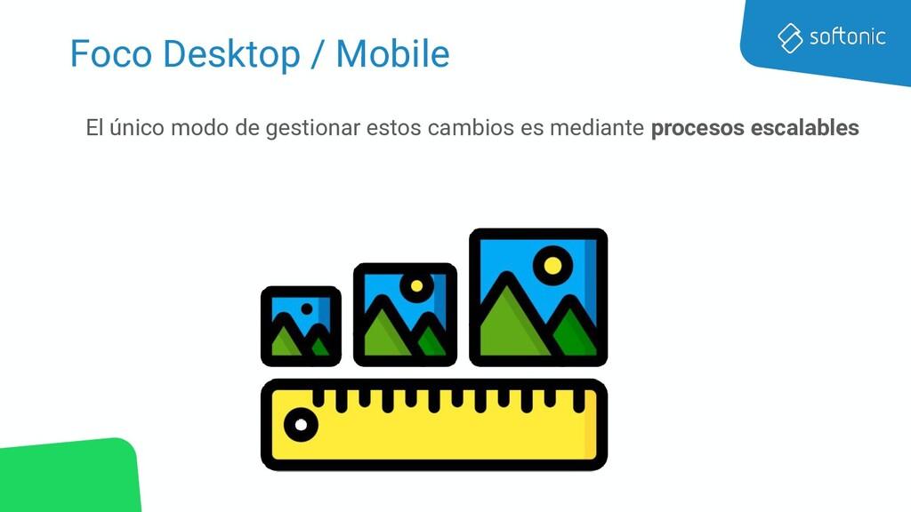 Foco Desktop / Mobile El único modo de gestiona...