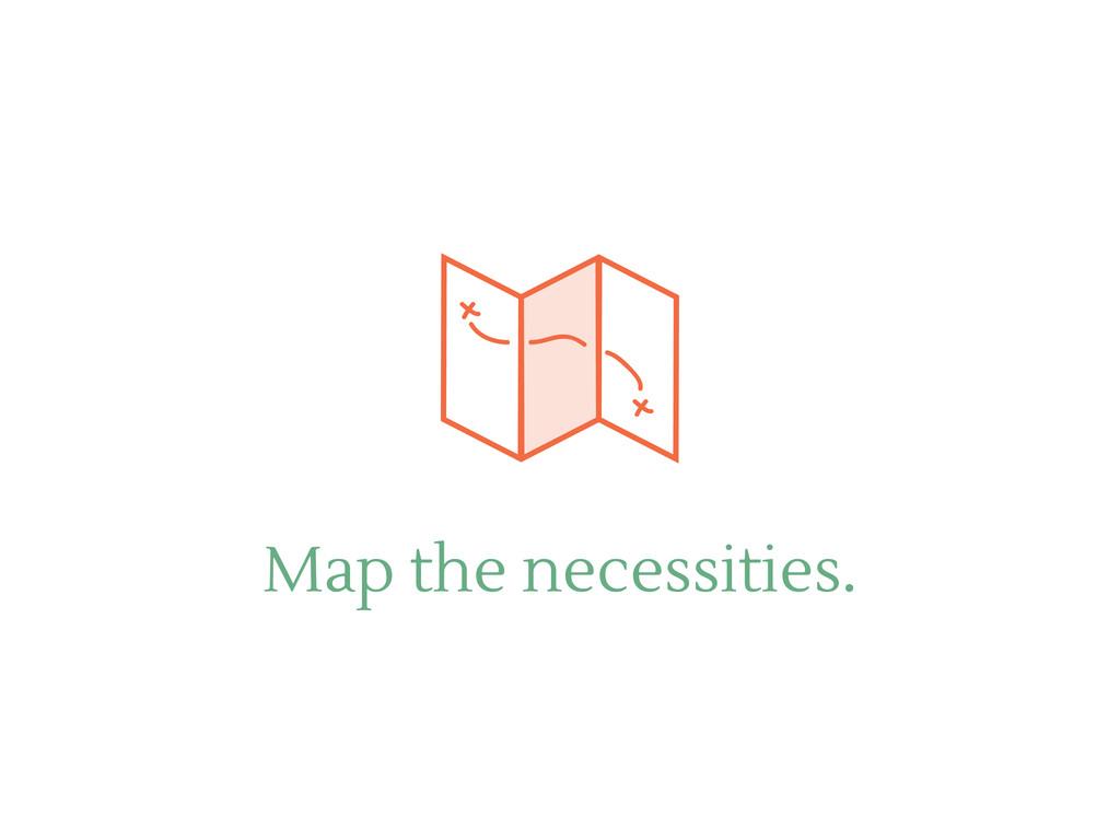Map the necessities.