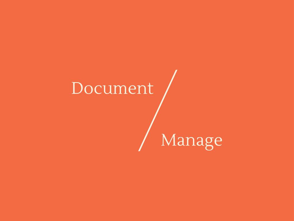 Document Manage