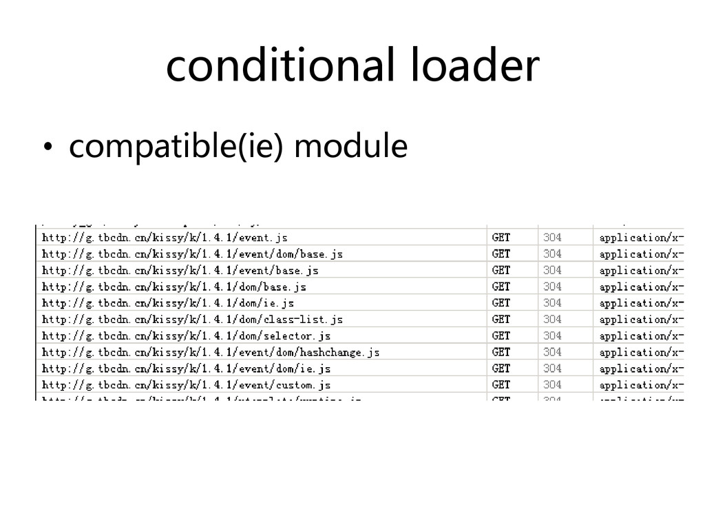conditional loader • compatible(ie) module