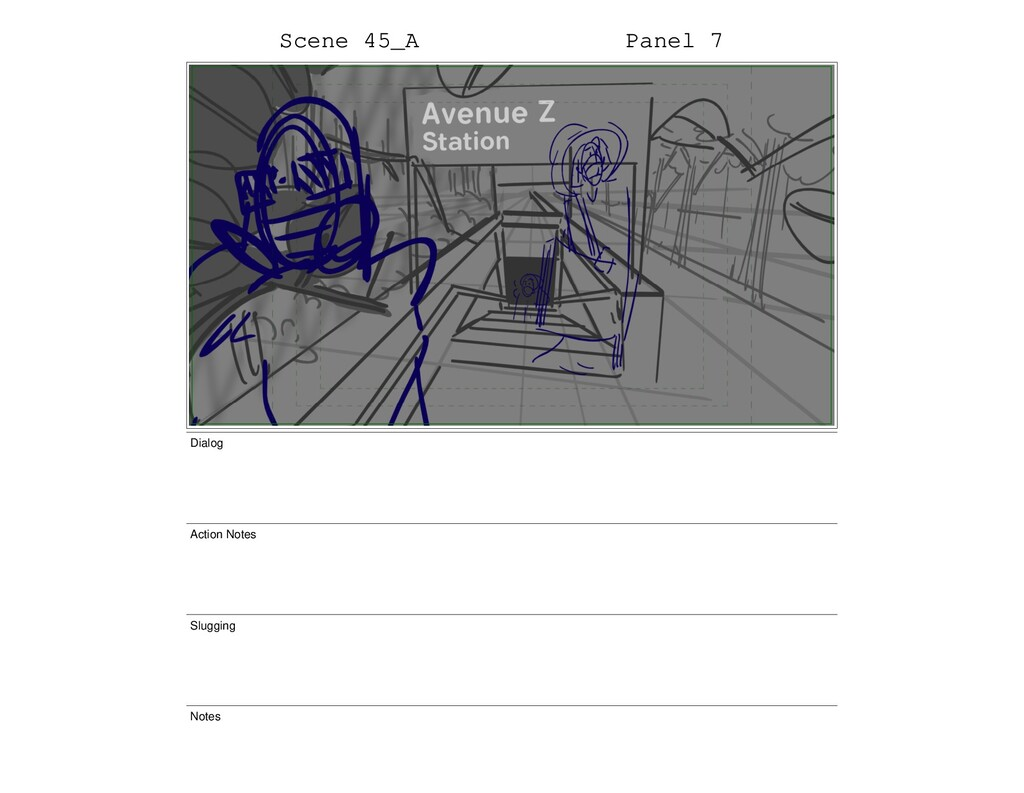 Scene 45_A Panel 7 Dialog Action Notes Slugging...