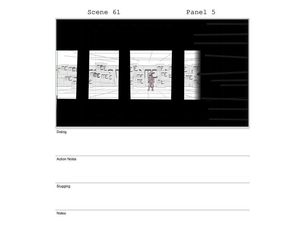 Scene 61 Panel 5 Dialog Action Notes Slugging N...