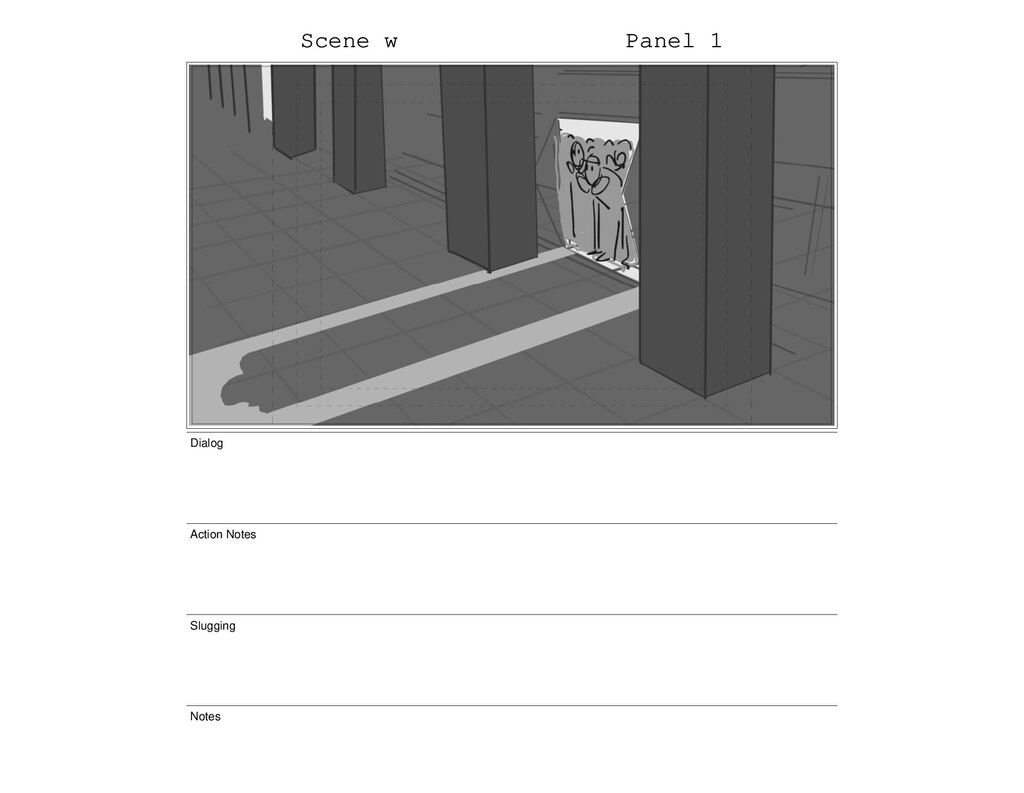 Scene w Panel 1 Dialog Action Notes Slugging No...