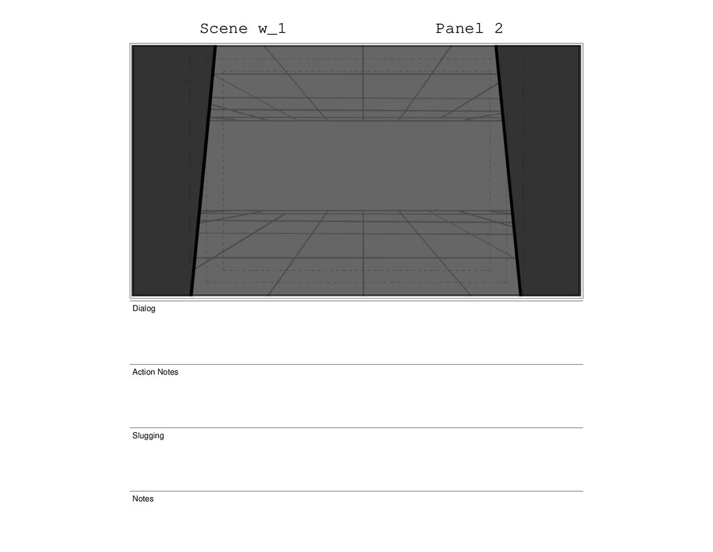 Scene w_1 Panel 2 Dialog Action Notes Slugging ...