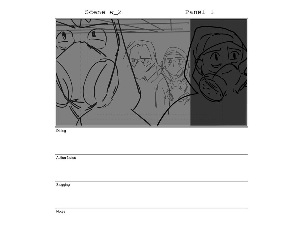 Scene w_2 Panel 1 Dialog Action Notes Slugging ...