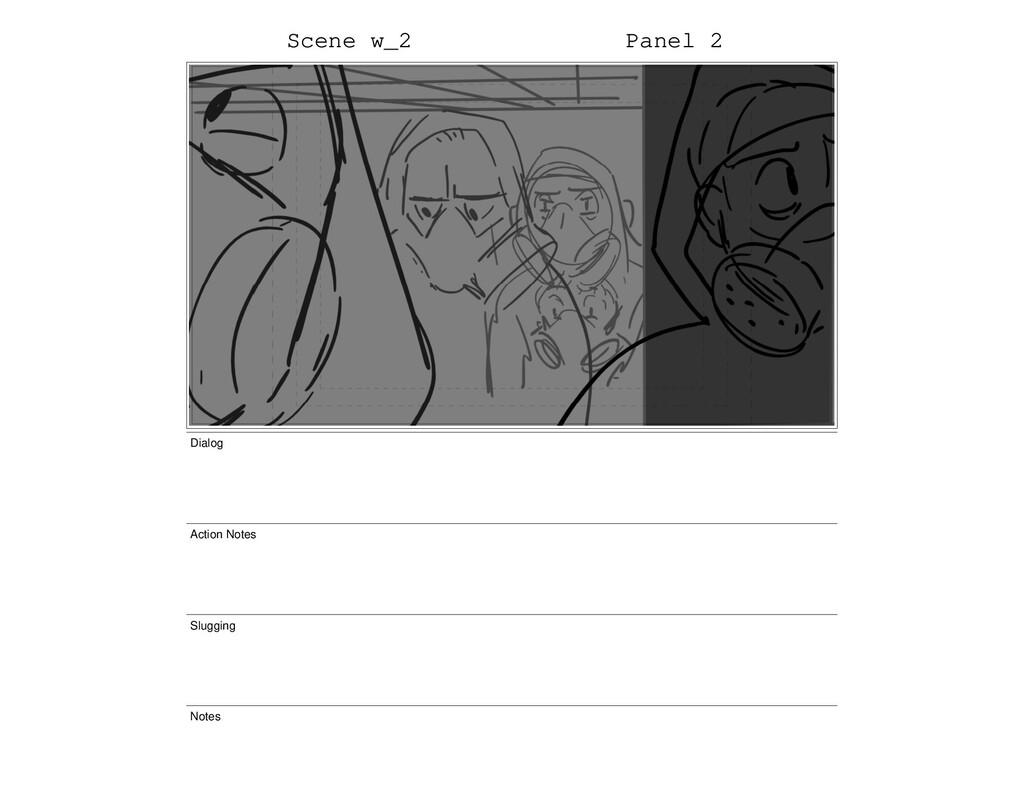 Scene w_2 Panel 2 Dialog Action Notes Slugging ...