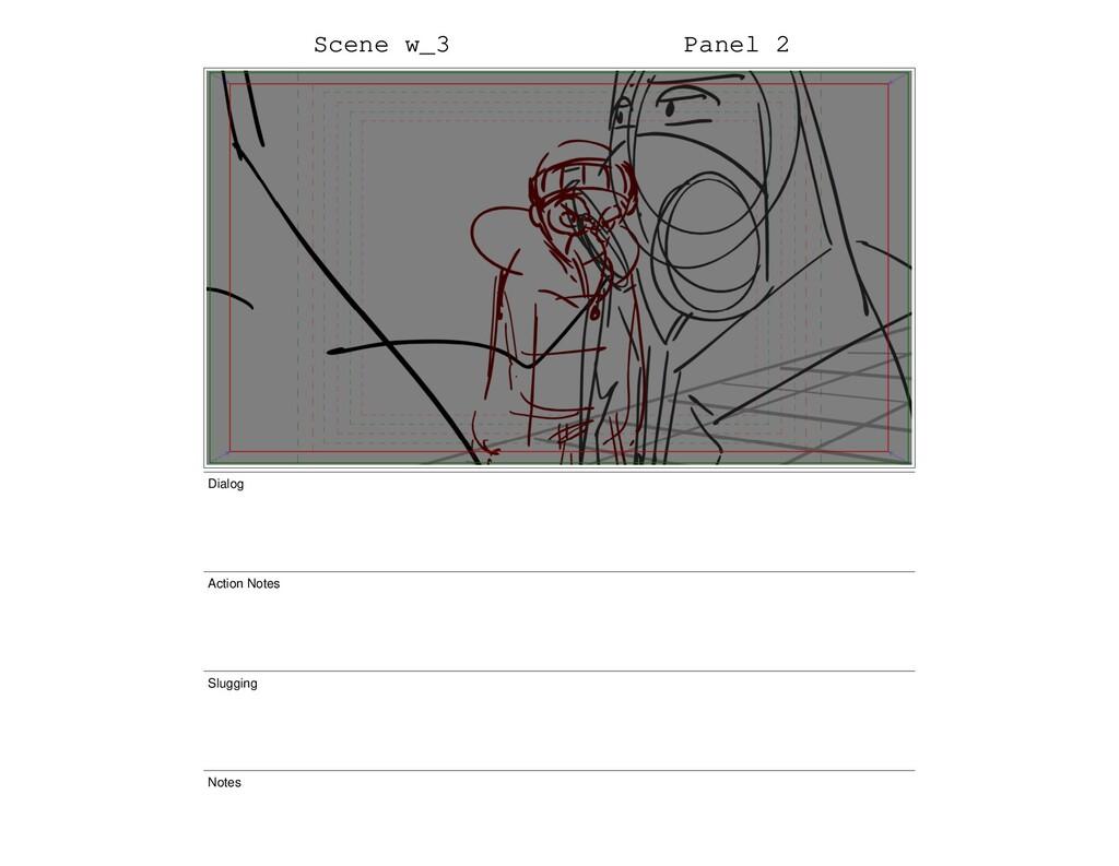 Scene w_3 Panel 2 Dialog Action Notes Slugging ...