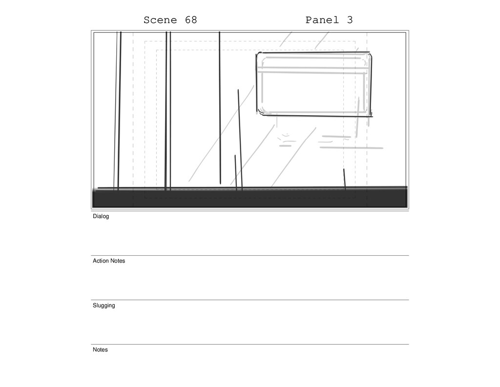 Scene 68 Panel 3 Dialog Action Notes Slugging N...