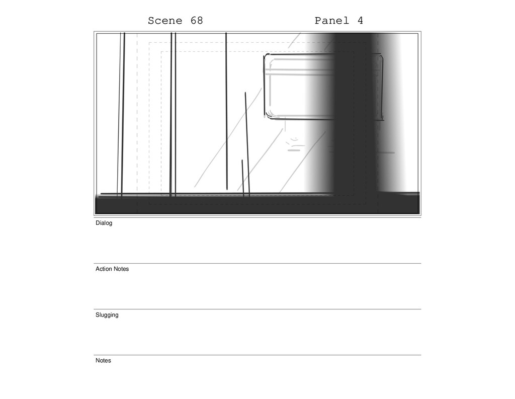 Scene 68 Panel 4 Dialog Action Notes Slugging N...