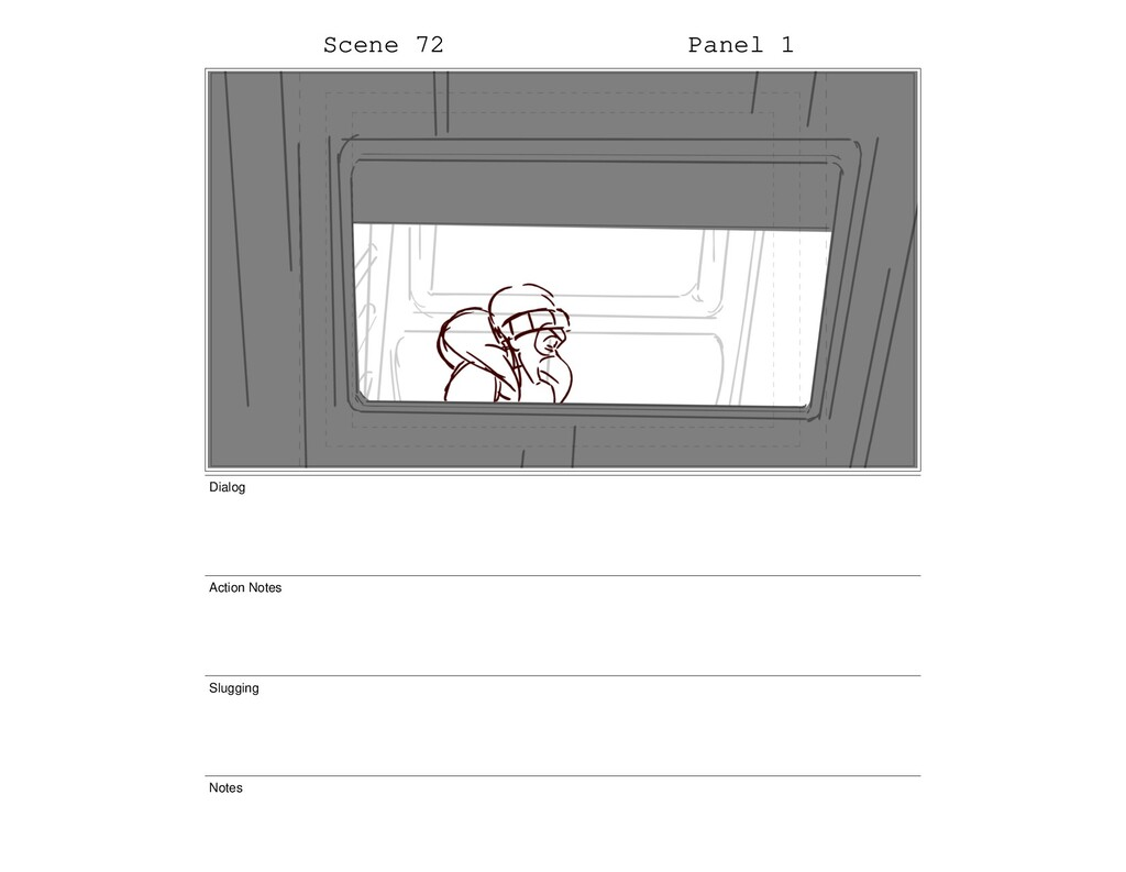 Scene 72 Panel 1 Dialog Action Notes Slugging N...