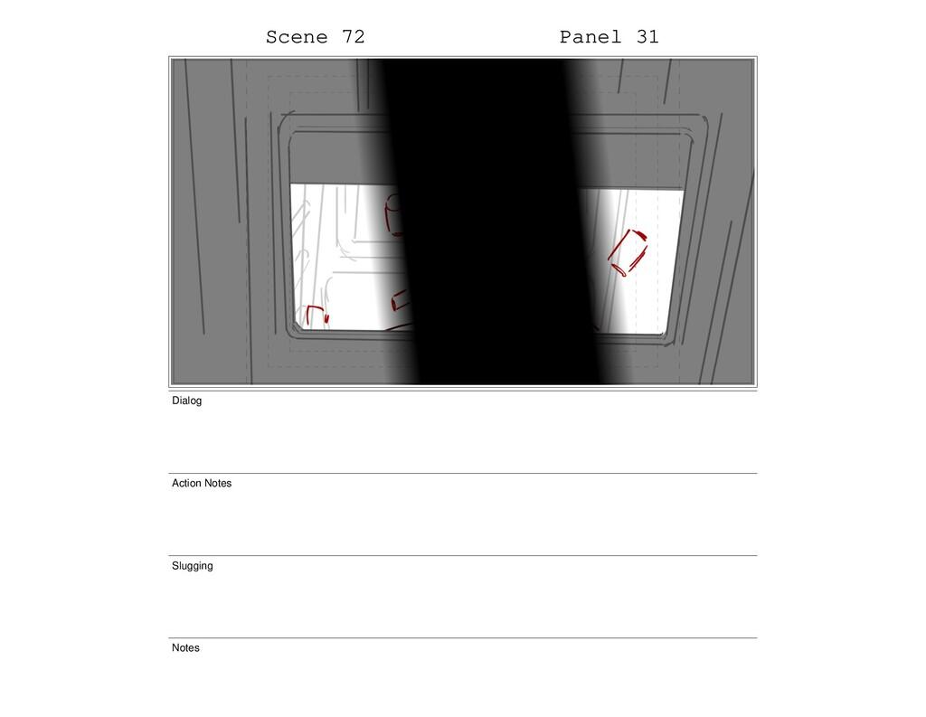 Scene 72 Panel 31 Dialog Action Notes Slugging ...
