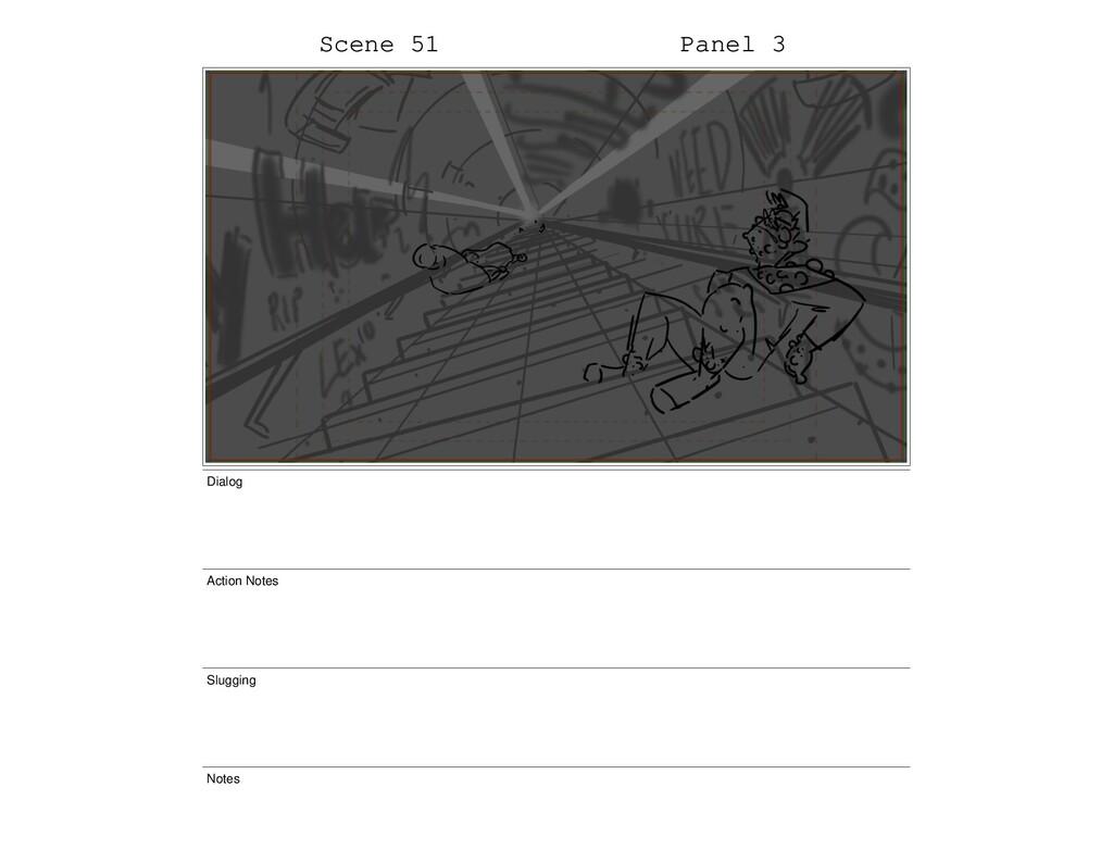 Scene 51 Panel 3 Dialog Action Notes Slugging N...