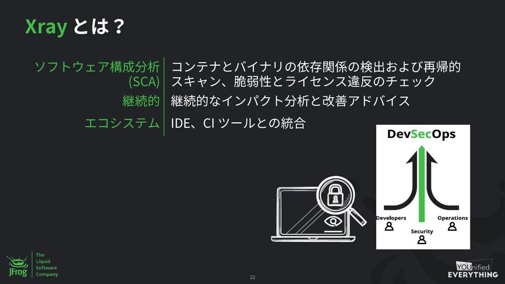 Xray 22 (SCA) IDE CI