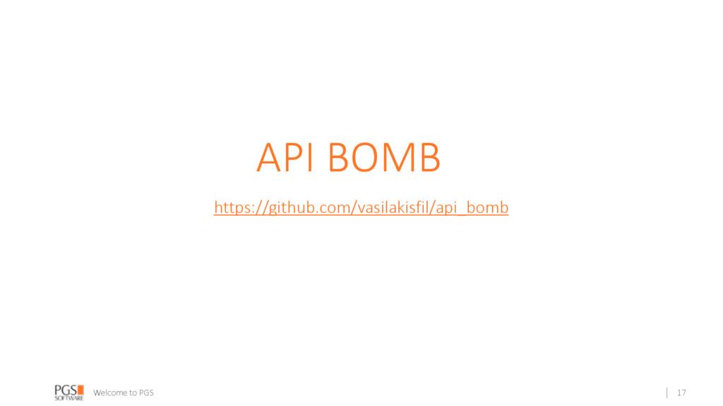Welcome to PGS API BOMB https://github.com/vasi...