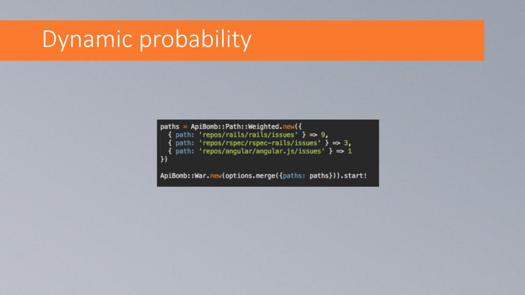 Dynamic probability