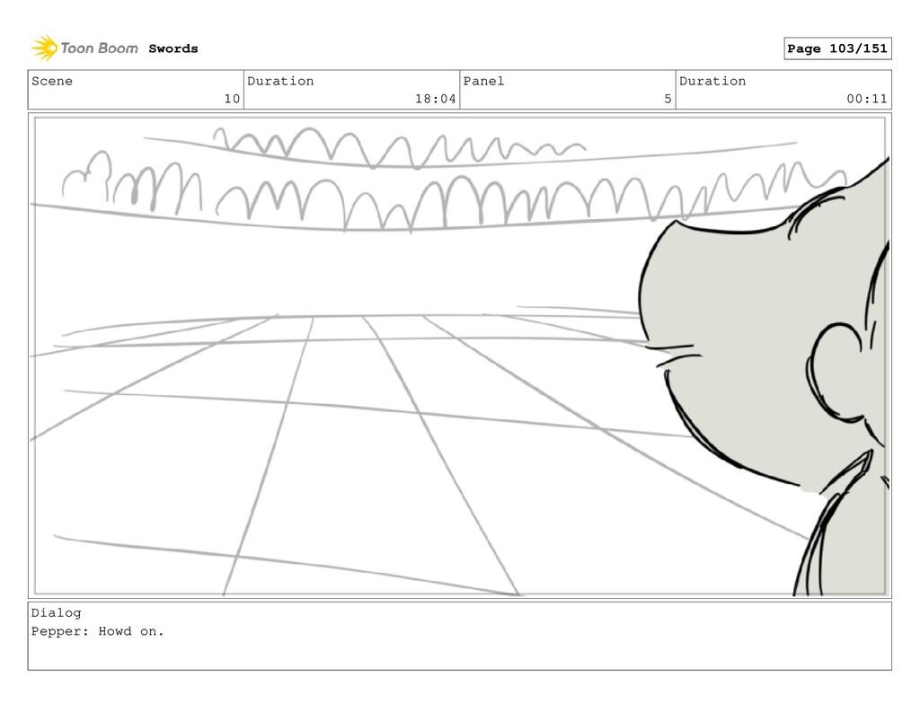 Scene 10 Duration 18:04 Panel 5 Duration 00:11 ...