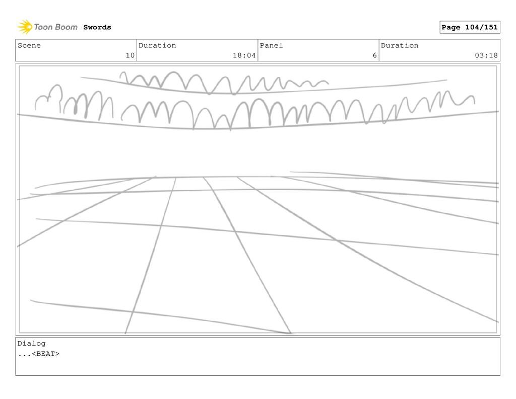Scene 10 Duration 18:04 Panel 6 Duration 03:18 ...