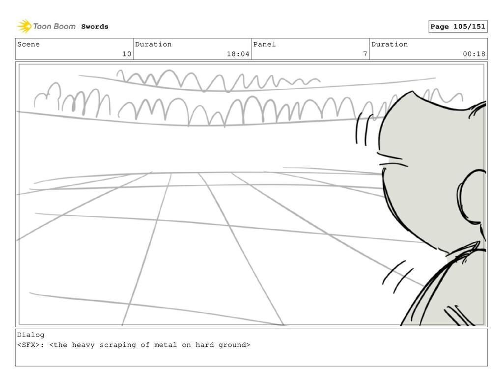 Scene 10 Duration 18:04 Panel 7 Duration 00:18 ...