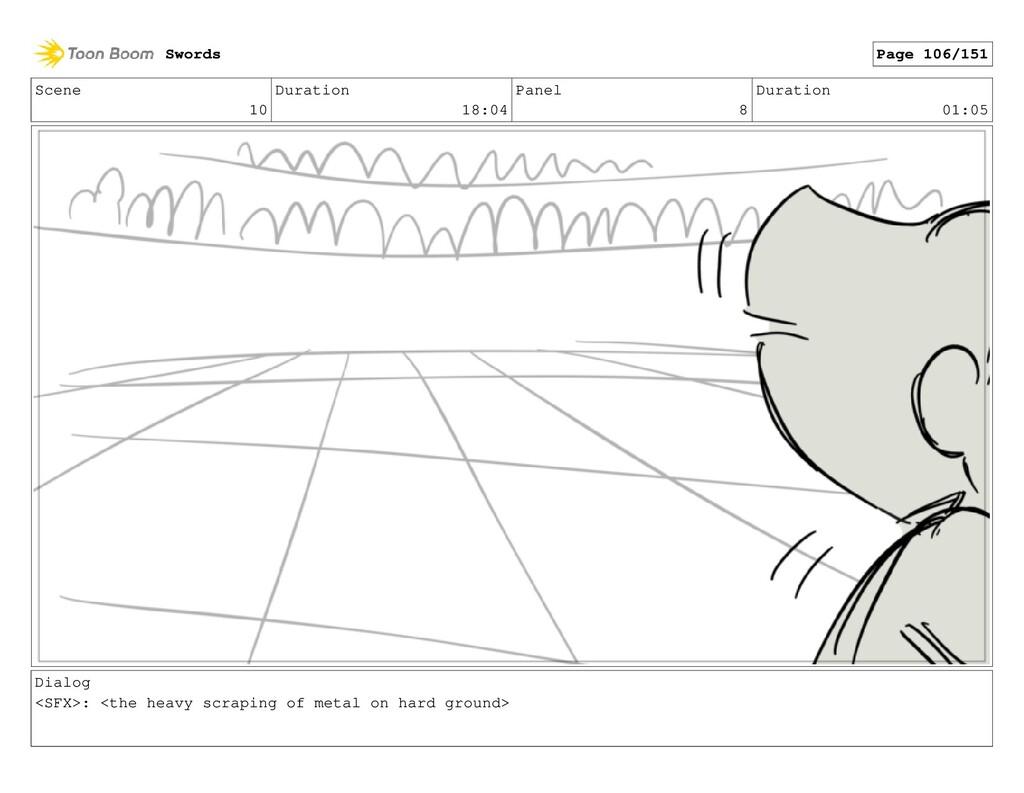 Scene 10 Duration 18:04 Panel 8 Duration 01:05 ...