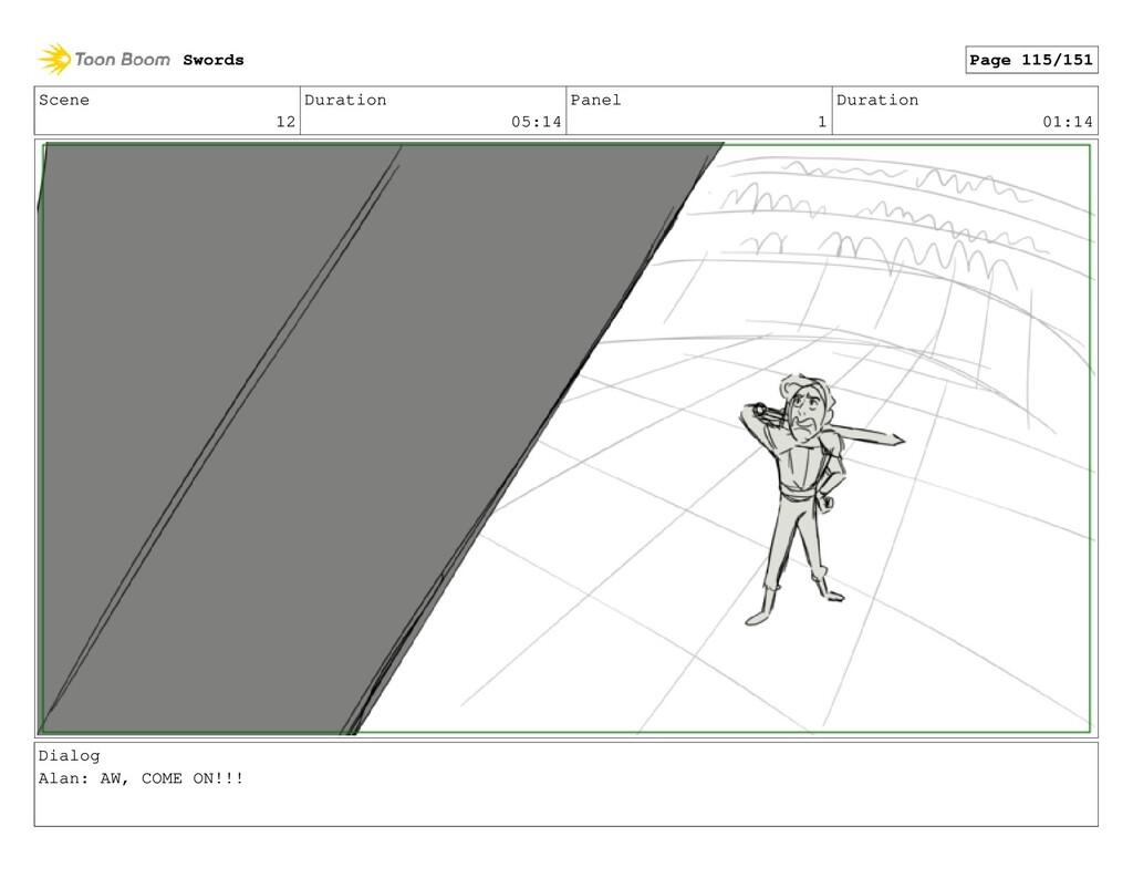 Scene 12 Duration 05:14 Panel 1 Duration 01:14 ...