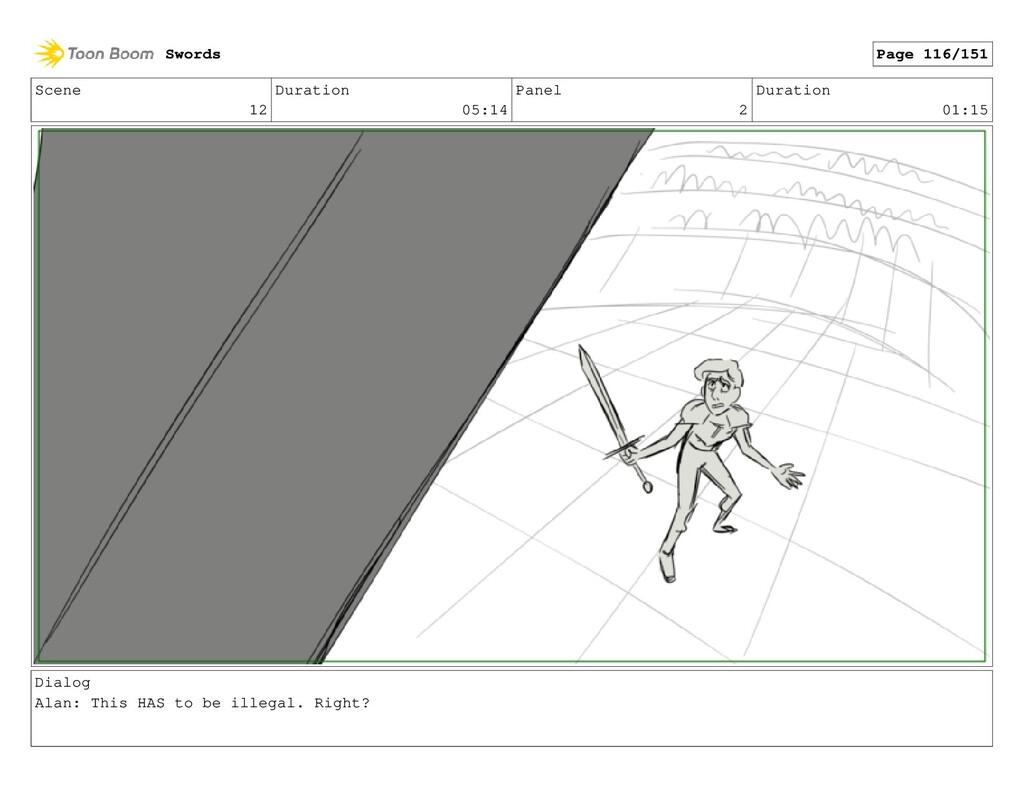 Scene 12 Duration 05:14 Panel 2 Duration 01:15 ...