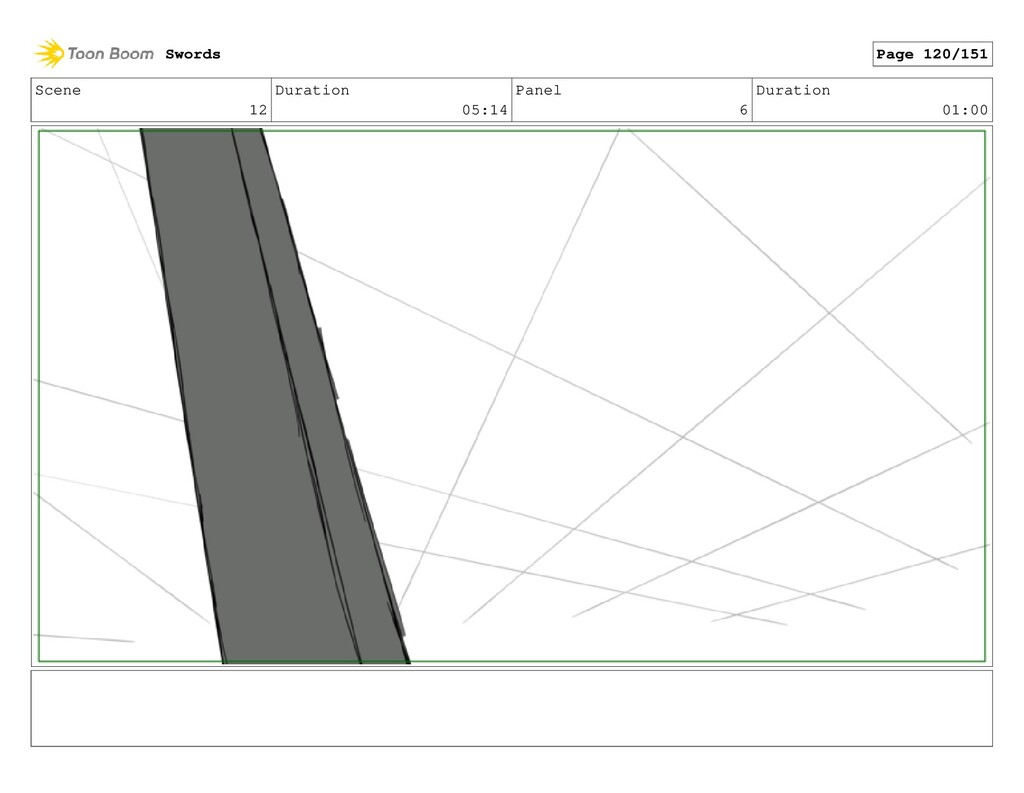 Scene 12 Duration 05:14 Panel 6 Duration 01:00 ...